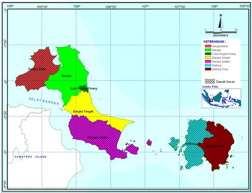 kabupaten dan kota di provinsi kepulauan bangka belitung