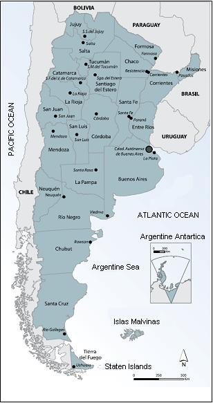 Argentina - Argentina map pdf
