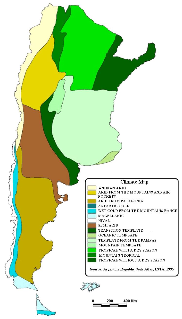 Argentina - Argentina map natural resources