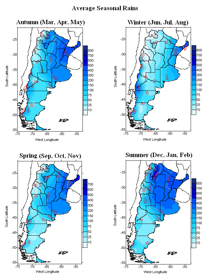 Seasons in Argentina: Weather and Climate |Argentina Rainfall