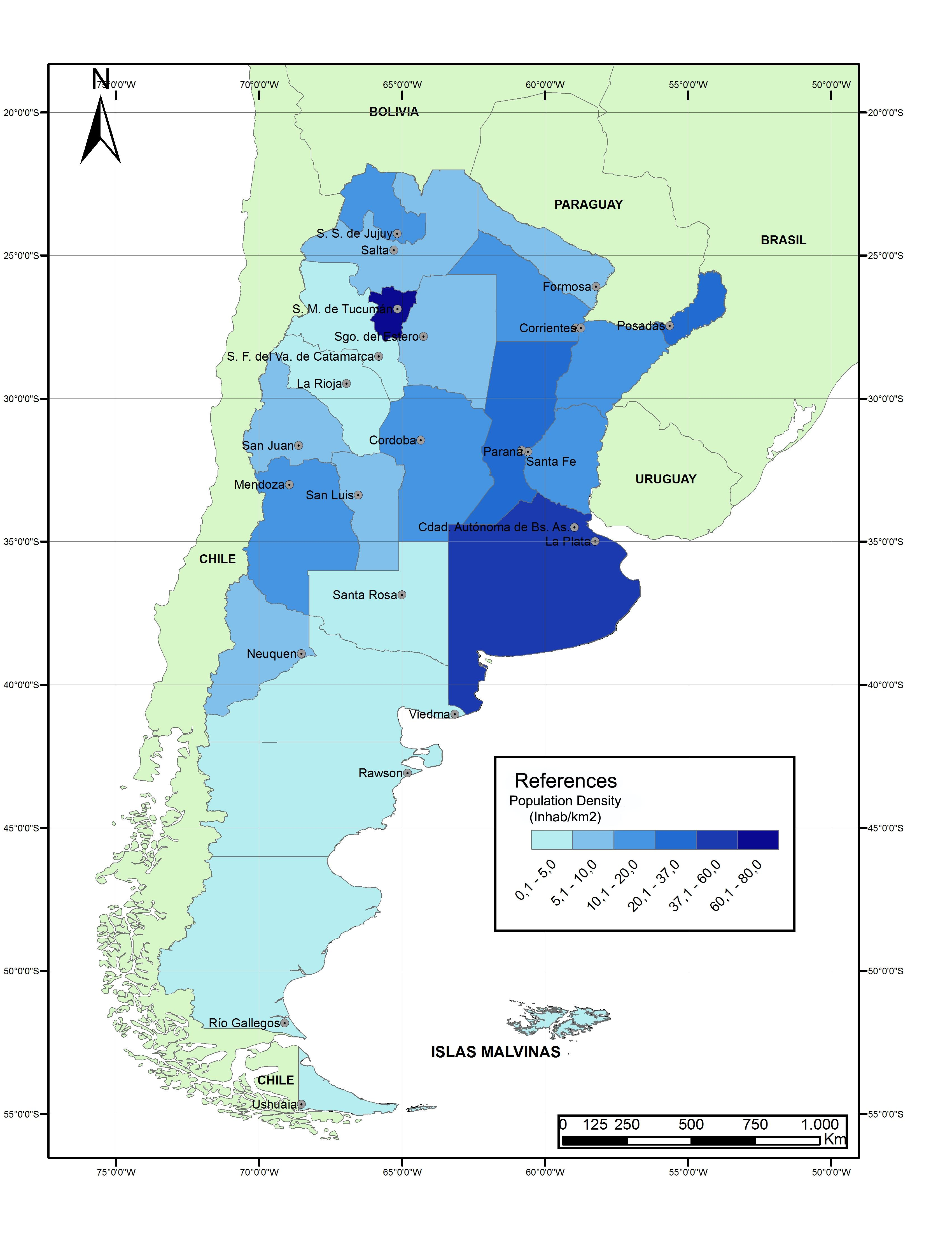 Argentina - Argentina rainfall map