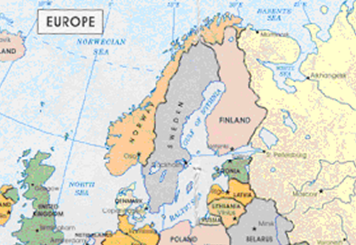 Sweden - Sweden map mountains