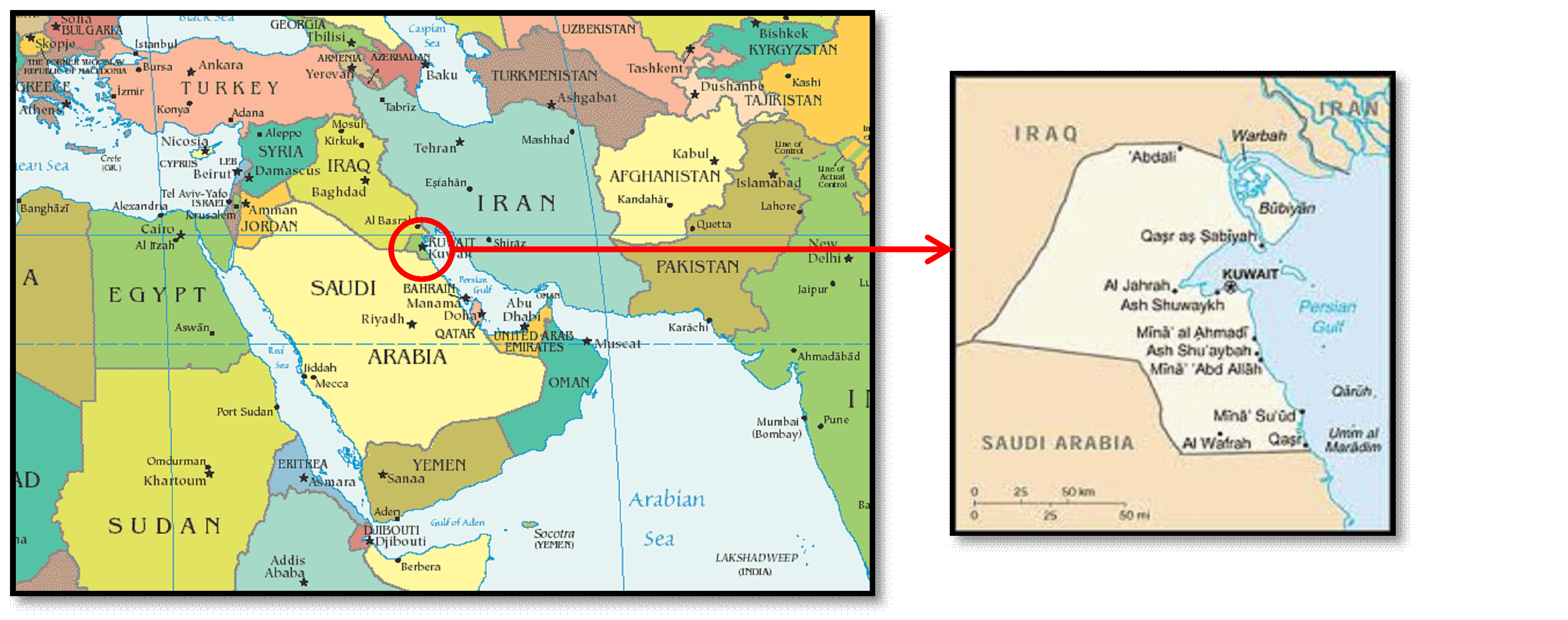 Kuwait State Map India State Map Lebanon State Map Antarctica - Kuwait map