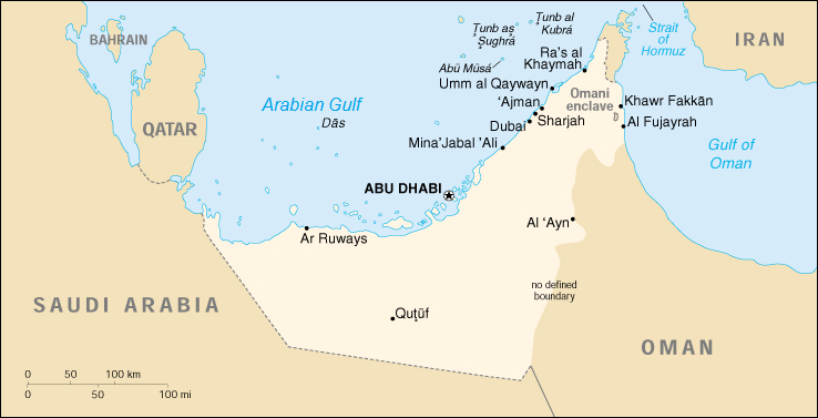 FIGURE 1: MAP OF THE UNITED ARAB EMIRATES