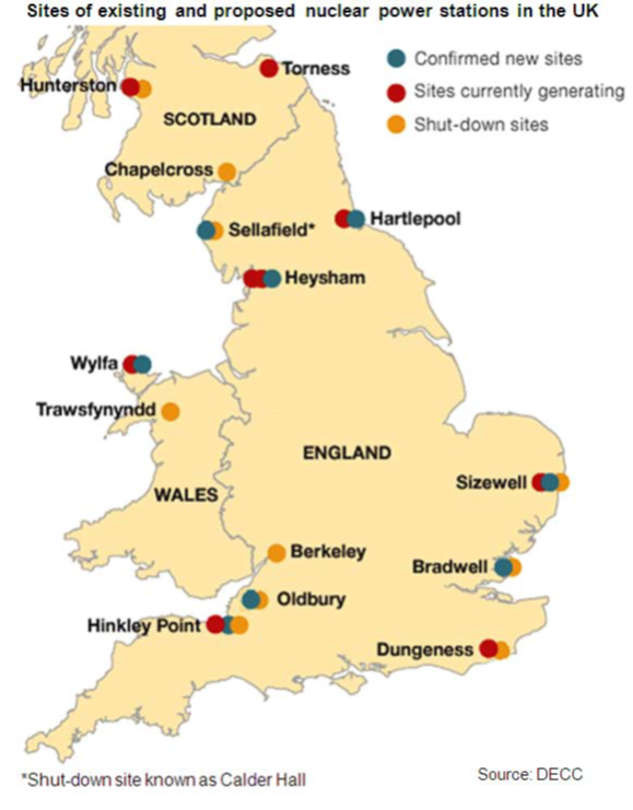 United Kingdom 2013 – Map Uk Nuclear Power Stations