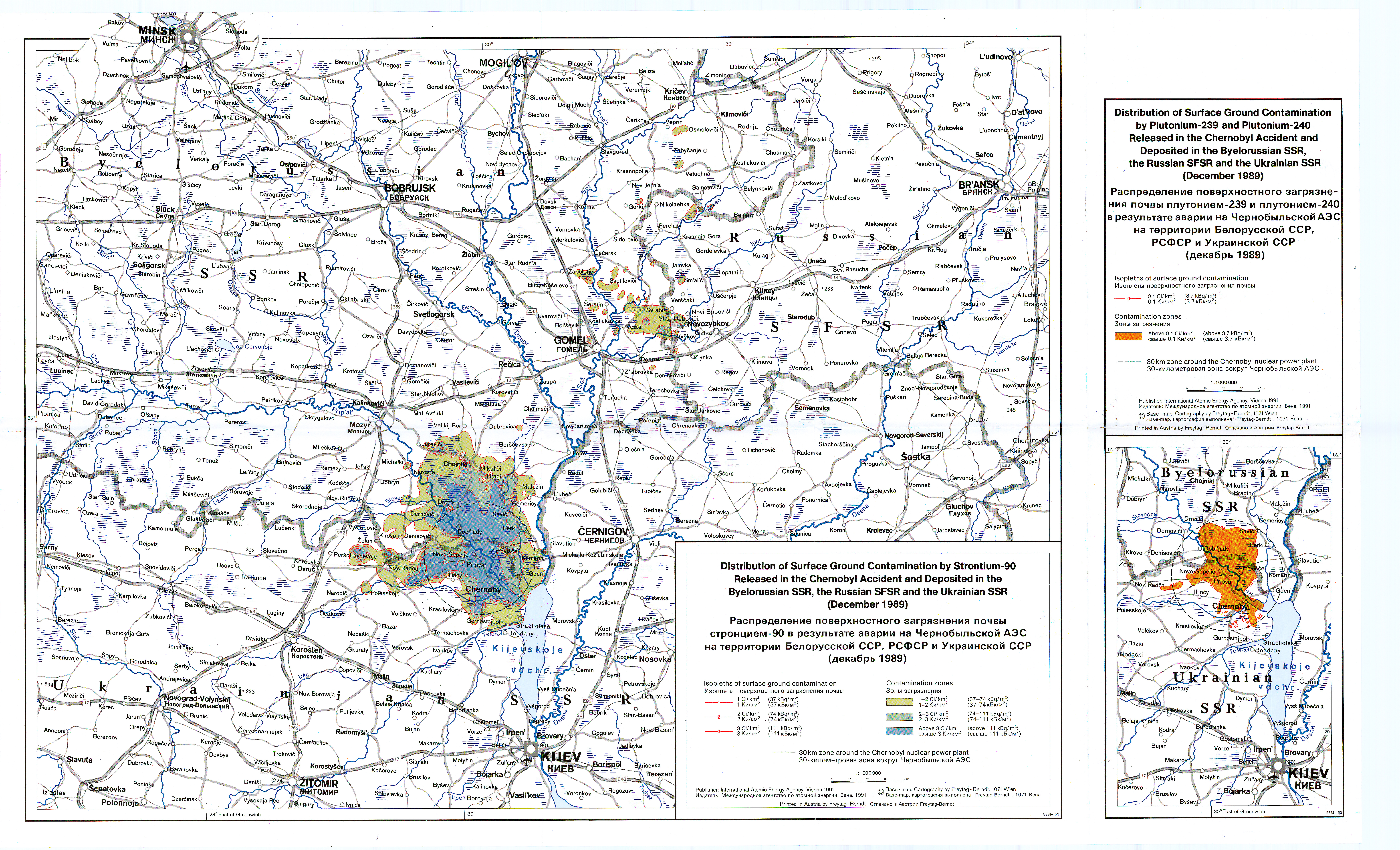 THE INTERNATIONAL CHERNOBYL PROJECT - SURFACE CONTAMINATION MAPS on ussr map, chernobyl disaster, deaths due to the chernobyl disaster, yalta map, s.t.a.l.k.e.r.: shadow of chernobyl, minsk map, pripyat river, moscow map, chernobyl disaster effects, vladivostok map, russia map, kazan map, balkan peninsula map, new safe confinement, fukushima map, ukrainian national chernobyl museum, ukraine map, pripyat map, grozny map, crimean map, donetsk map, prypjat vergnügungspark, kiev map, siberia map, poland map, red forest, chernobyl nuclear power plant sarcophagus, italy map, belarus map, three mile island accident, kyshtym disaster, europe map, chernobyl necklace, polissya hotel,